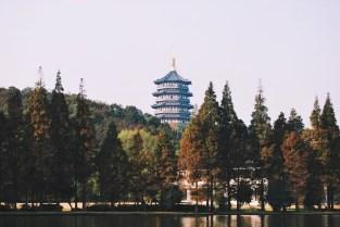 jezioro i pagoda sześciu harmonii
