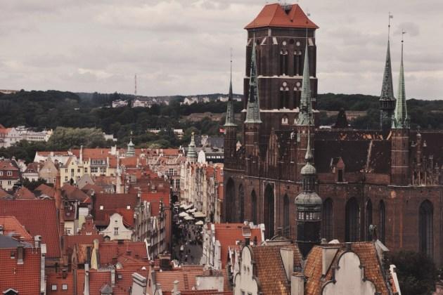 Gdańsk widziany z góry