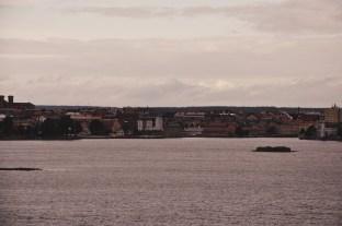 Karlskrona w oddali