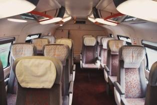 w pociągu z Rabatu do Casablanki