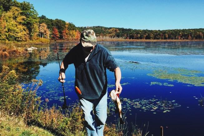 Natchaug State Forest - teściu z rybą