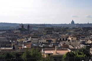widok z parku Borghese