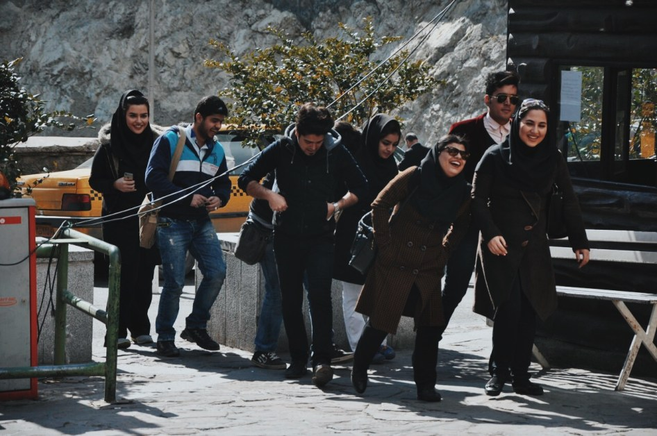 młodzi Teherańczycy | zdjęcie Magdalena Garbacz-Wesołowska