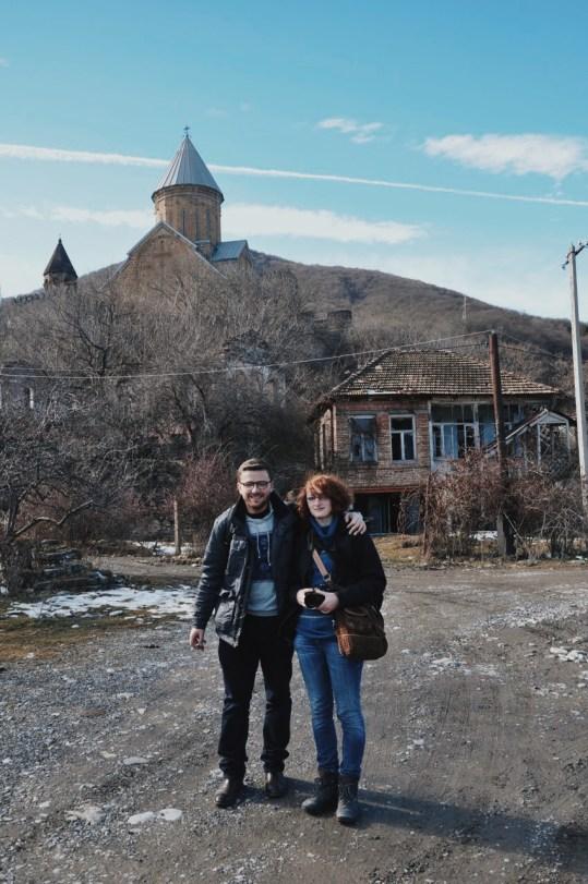 twierdza Ananuri, z moją siostrą - Joanną