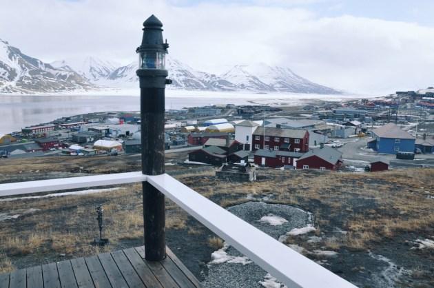 Longyearbyen widziane z góry
