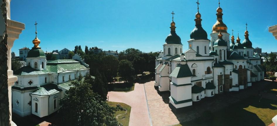 Sobór Mądrości Bożej w Kijowie - widok z dzwonnicy