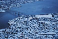 Tromso widok na miasto kolejka