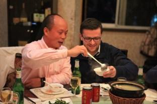 kolacja powitalna z moim najlepszym chińskim przyjacielem - Mr. Lee