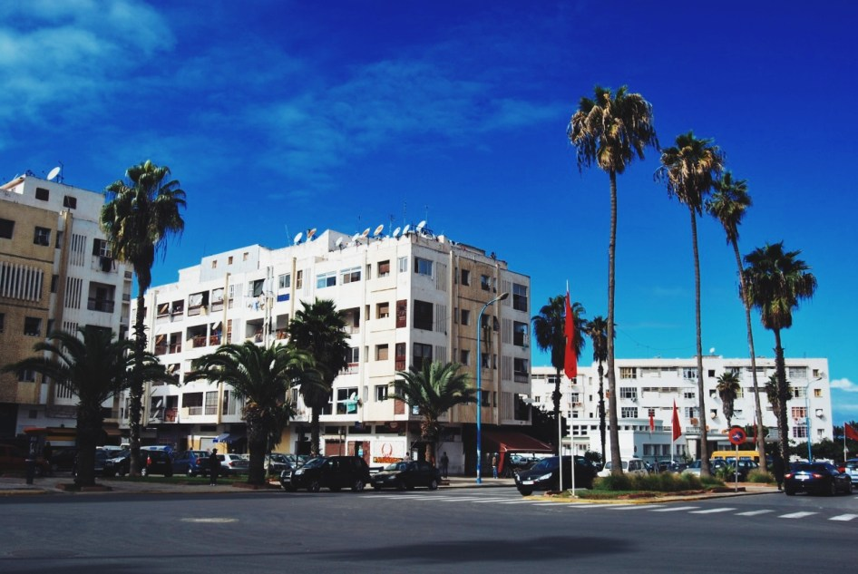nudne ulice Casablanki