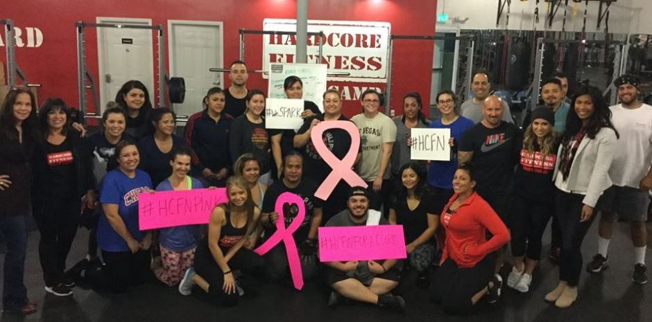 Hardcore Fitness Northridge owners, Dawn & Tori Langham and their members raised $1,000 to weSPARK in honor of Breast Cancer Awareness Month!
