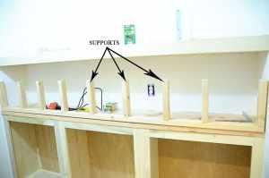 building chunky shelves frame