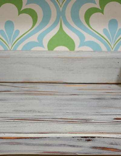 painted distressed weathered countertop
