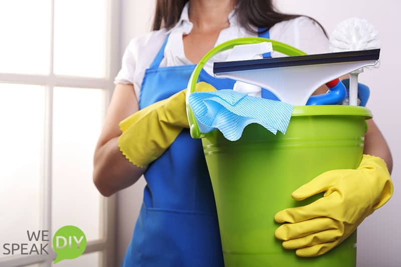 Easy Holiday Entertaining Cleaning Woman