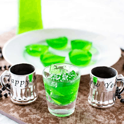 Green Midori Jello Shots Recipe for St. Patrick's Day