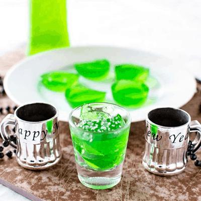 Green Midori Jello Shots Recipe for St. Patrick's Day