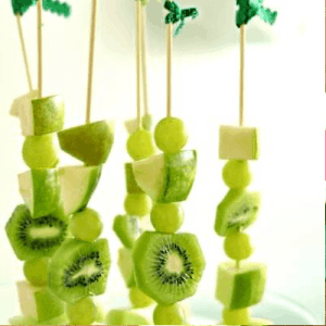 Green Fruit Skewers Recipe for St. Patrick's Day