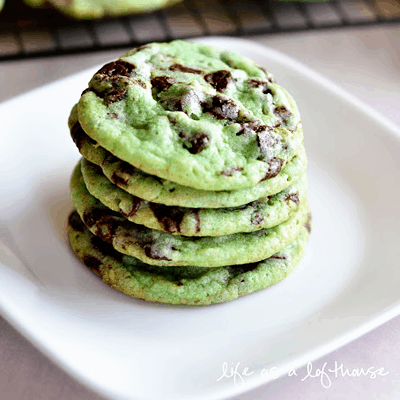 Mint Chocolate Chip Cookie Recipe for St. Patrick's Day