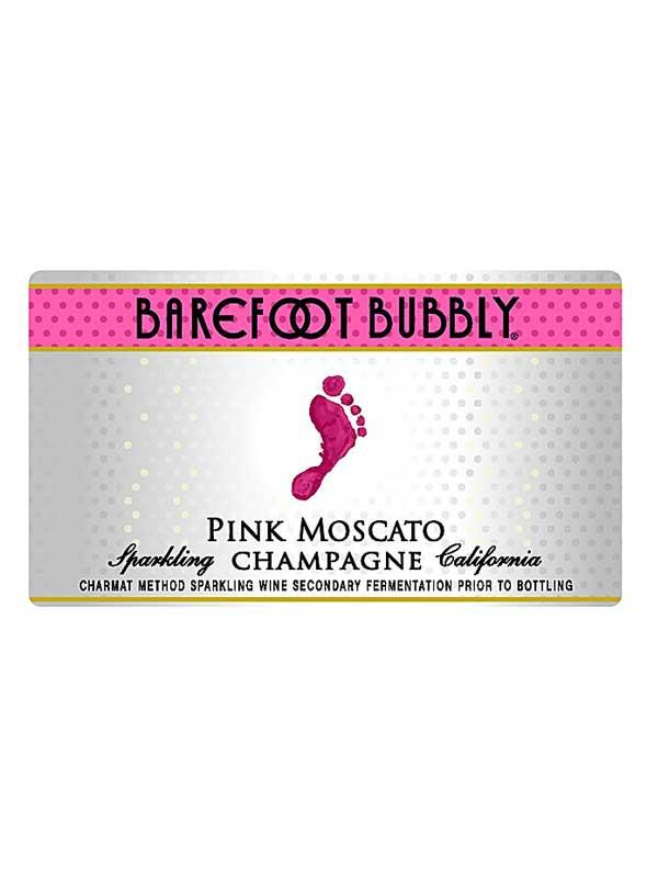 Barefoot Pink Moscato Label : barefoot, moscato, label, Barefoot, Cellars, Bubbly, Moscato, Champagne, 750ML, WeSpeakWine.com