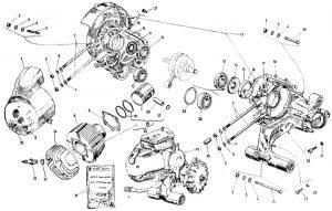 Explosionszeichnung: Vespa P200E Ersatzteile