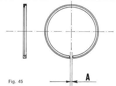 Vespa Kolbenring: Stoßspiel messen