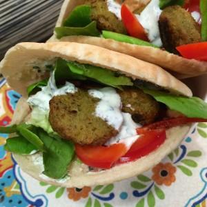 pita falafel (yoghurt muntsaus)55