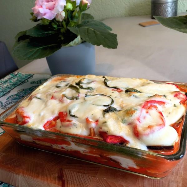 Vegetarische lasagne zonder pasta
