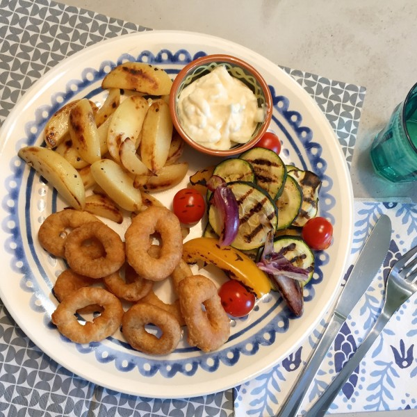 voorbeeld Calamaris met gegrilde groenten