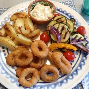 resultaat Calamaris met gegrilde groenten