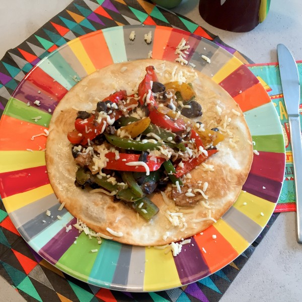 Mexicaanse Crispy fajita's met paprika