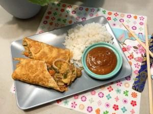 Omeletwrap met rijst