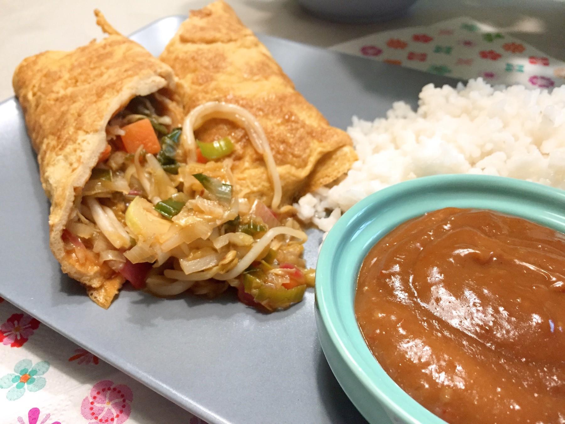 resultaat Omeletwrap met rijst