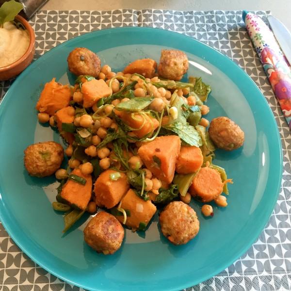 voorbeeld Zoete aardappel met kikkererwten