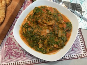Dhal spinazie curry