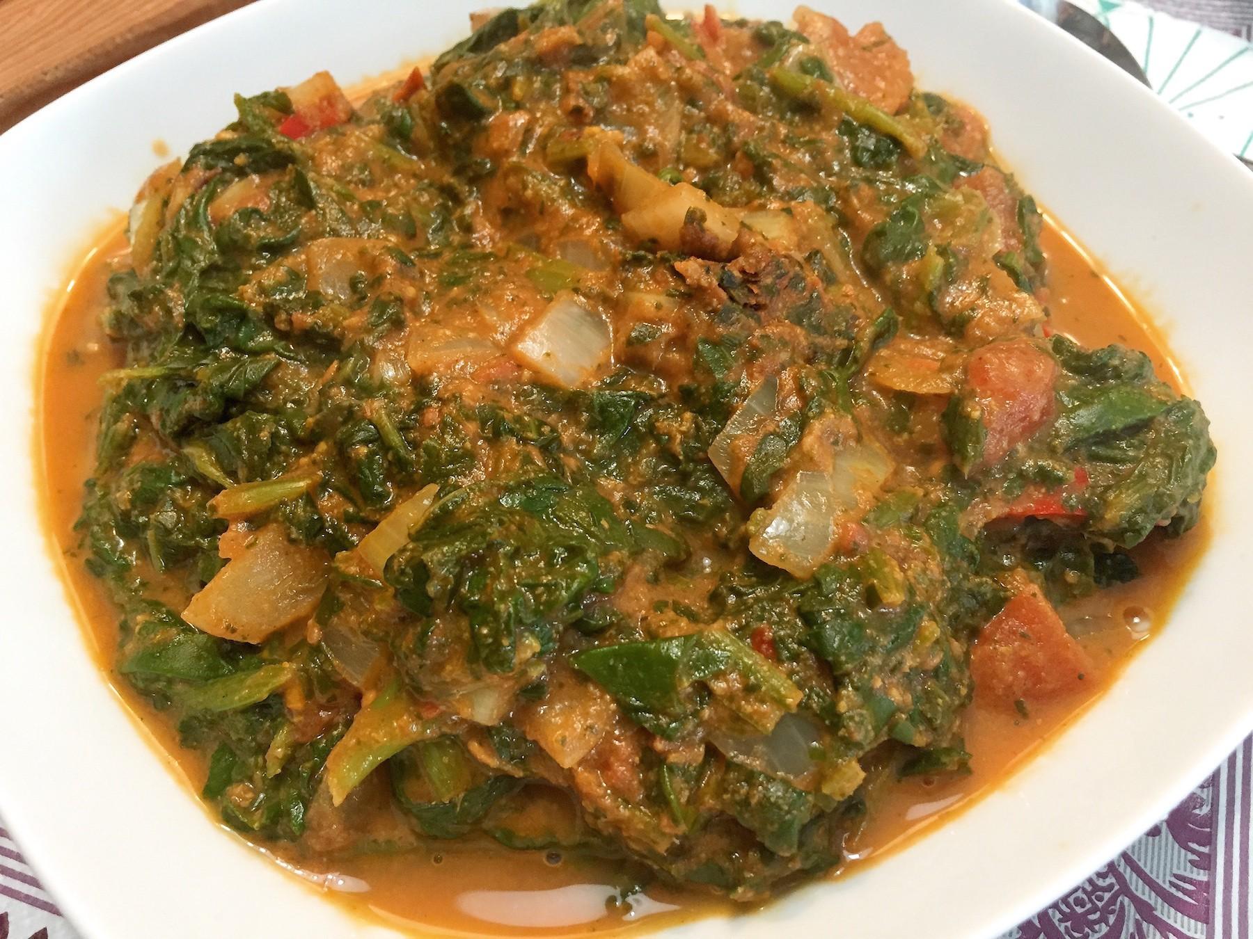 voorbeeld Dhal spinazie curry