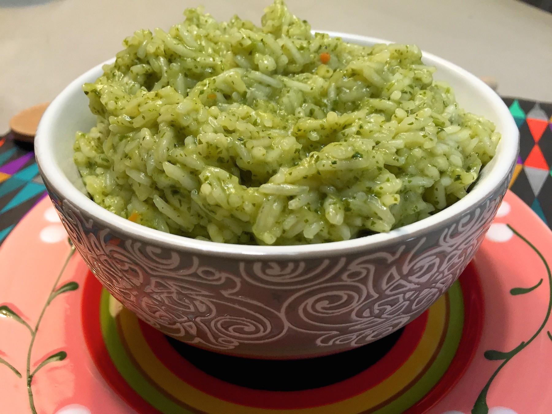 groene rijst van koriander