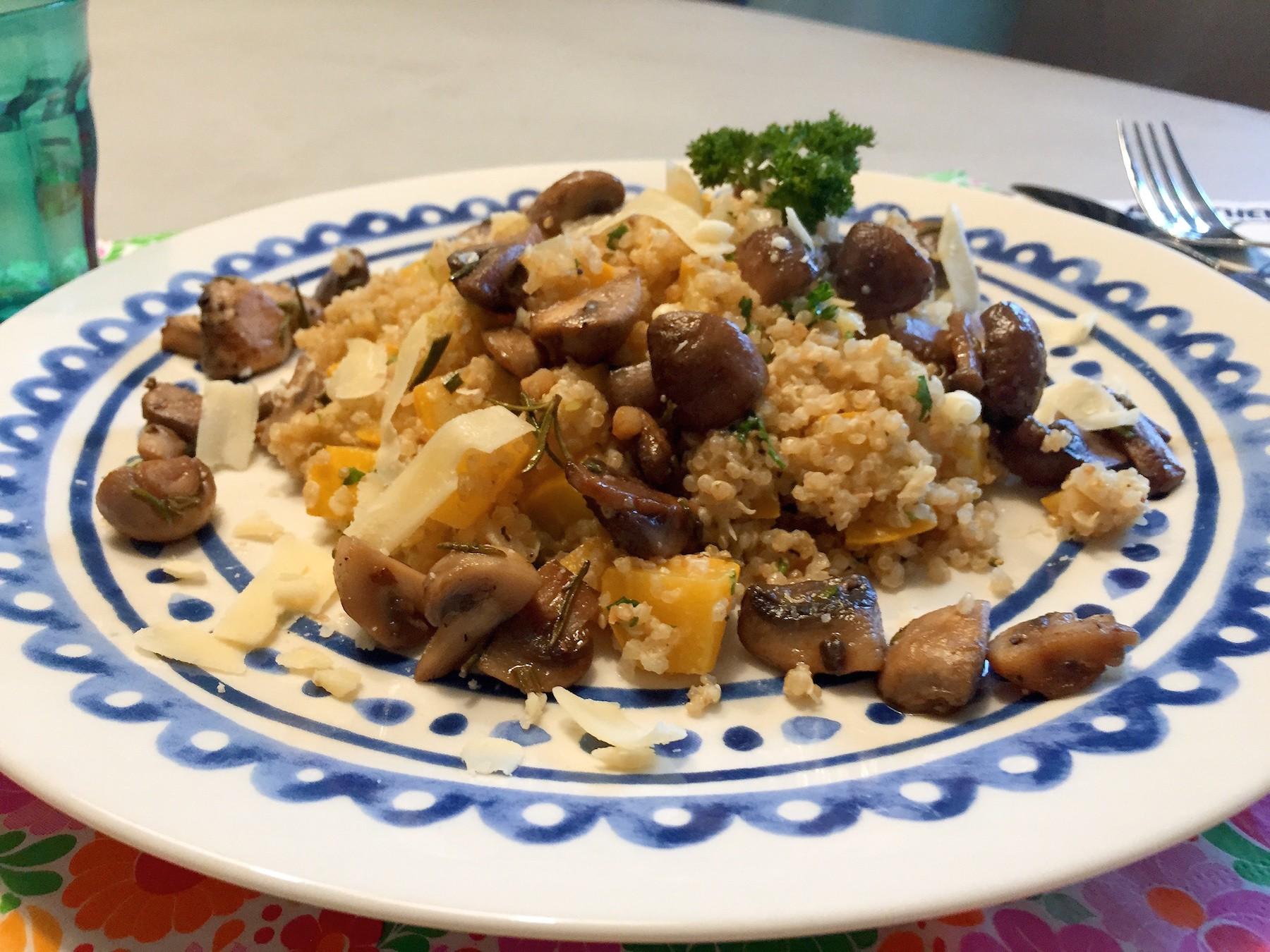 vegetarische quinoa risotto