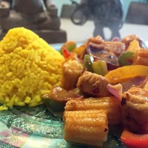 resultaat gele rijst thaise curry