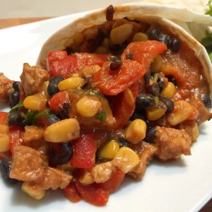Mexicaanse cones met mais en tofu