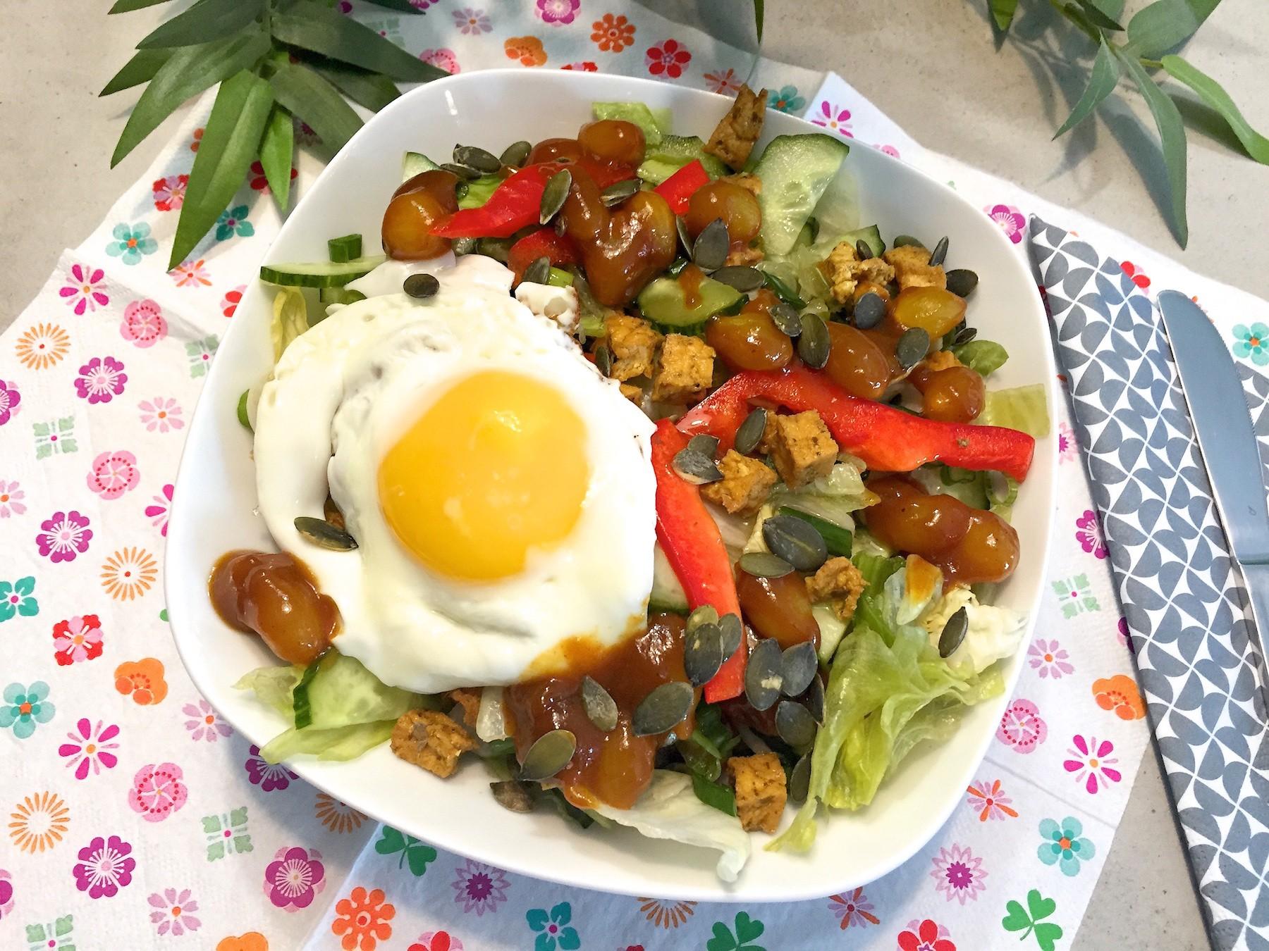 salade met zilveruitjes chutney