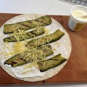 voorbereiding courgette quessedilla