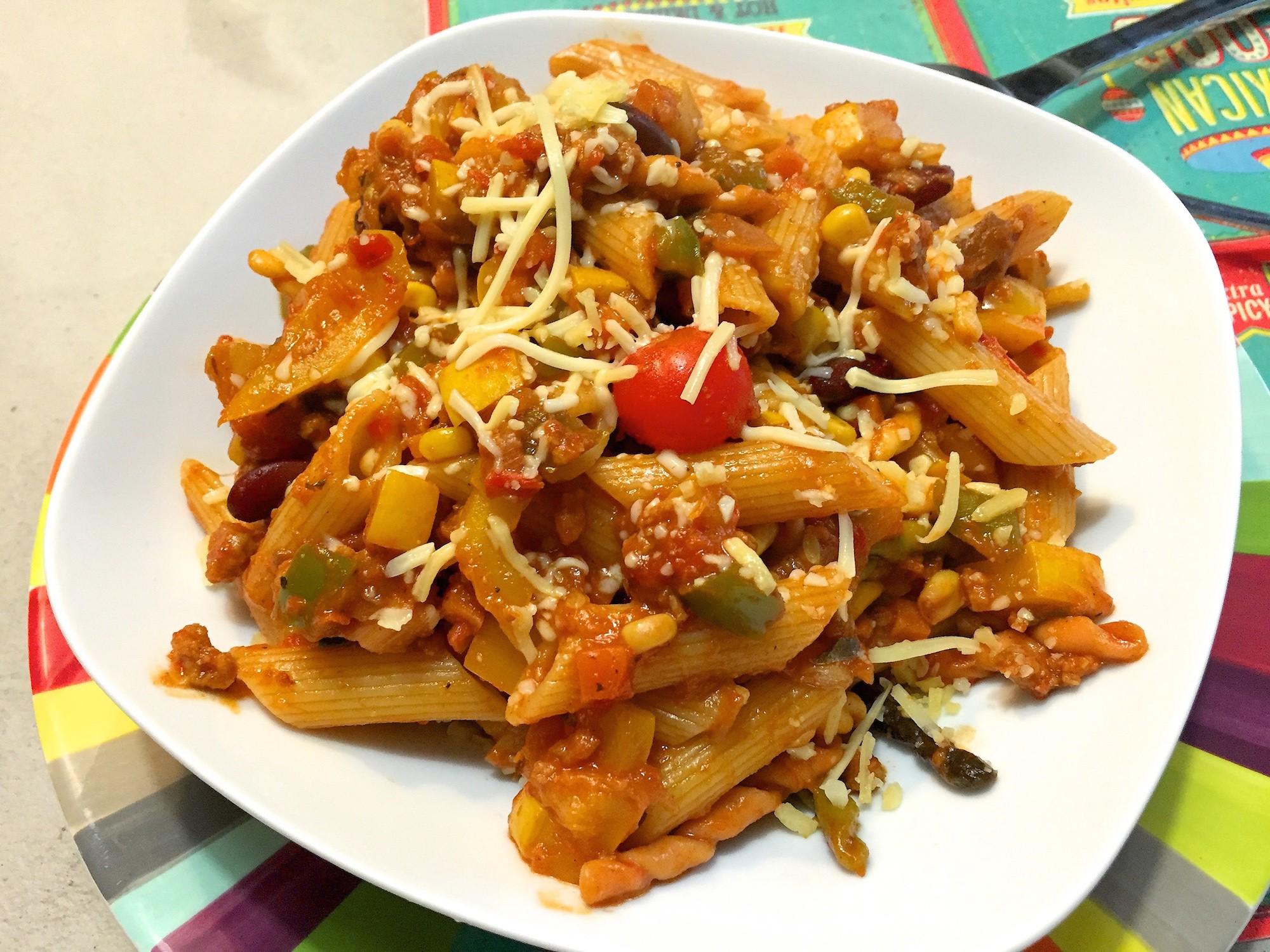 mexicaanse pasta met mais