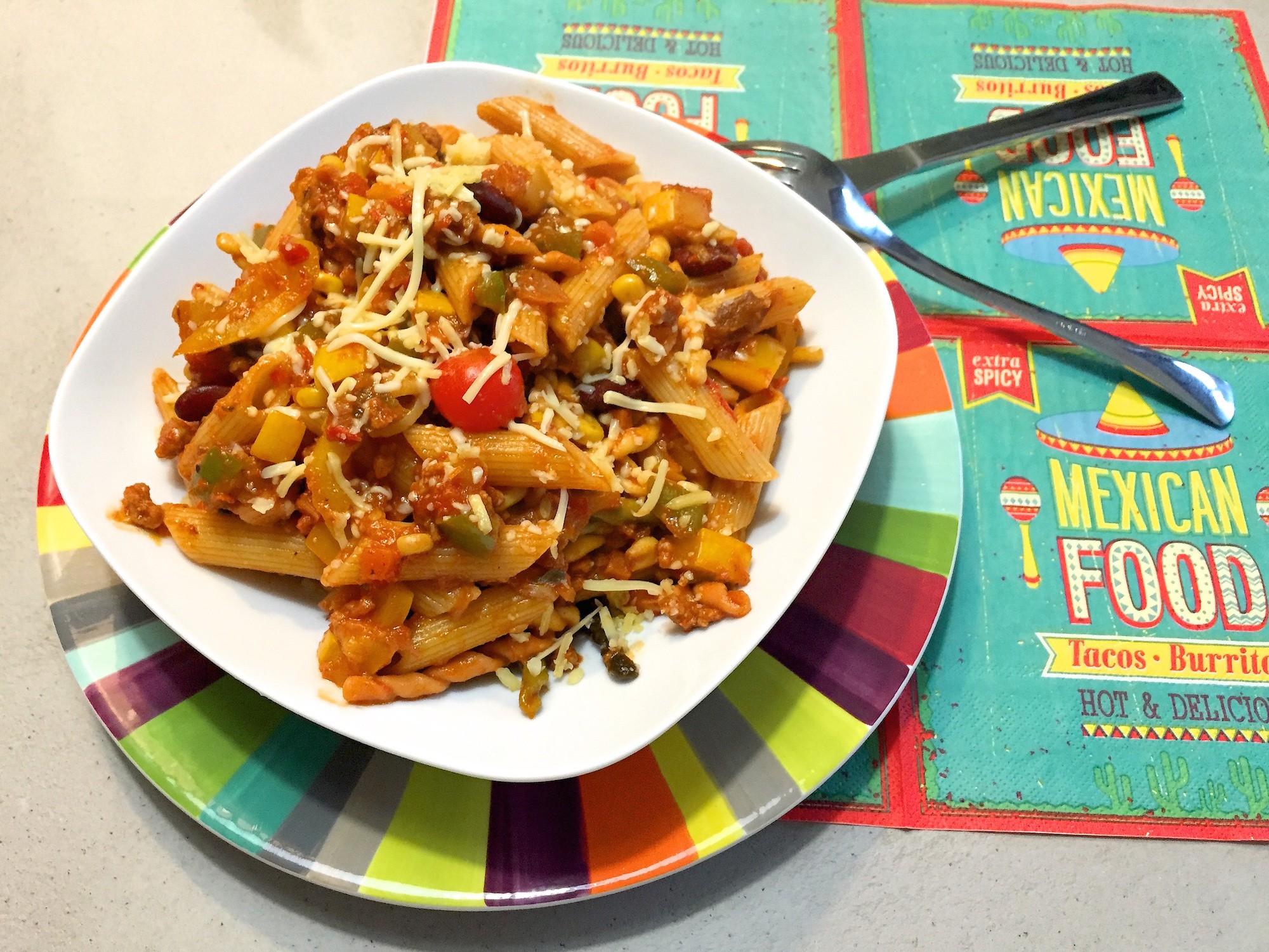 voorbeeld mexicaanse pasta