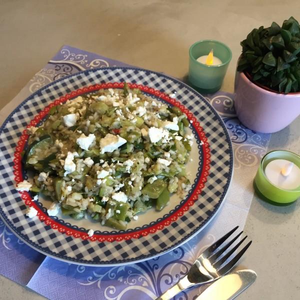 groene risotto met geitenkaas
