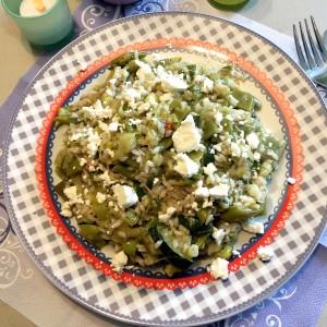 italiaanse groene risotto