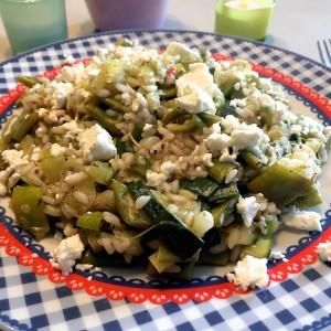 groene risotto met kaas