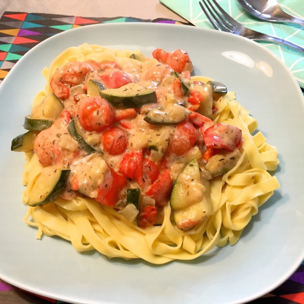 Tagliatelle met mediterraanse groenten 3