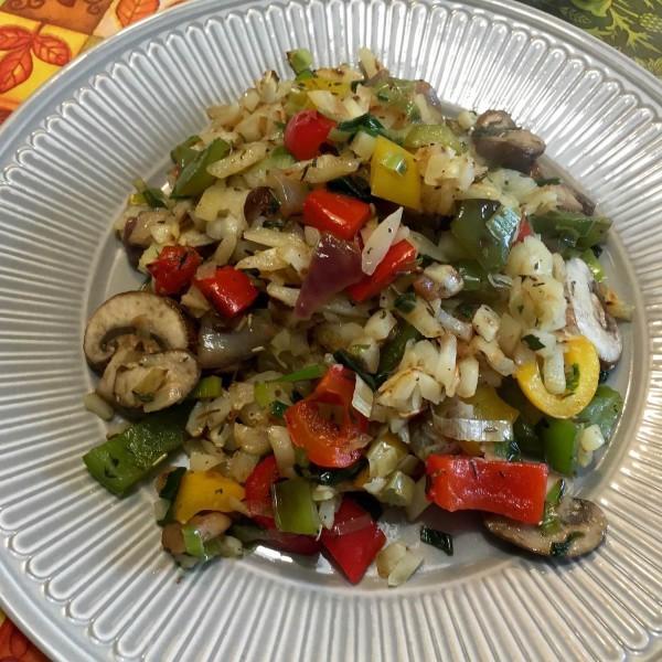Voorbeeld Rosti groenten met champignon