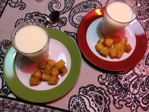 rijst dessert met gebakken ananas4