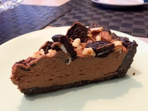 Stukje Nutella cheesecake