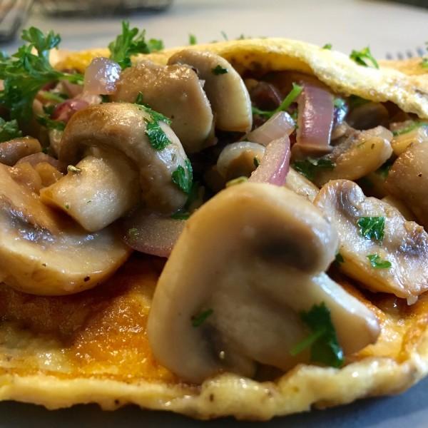 Resultaat champignon omelet